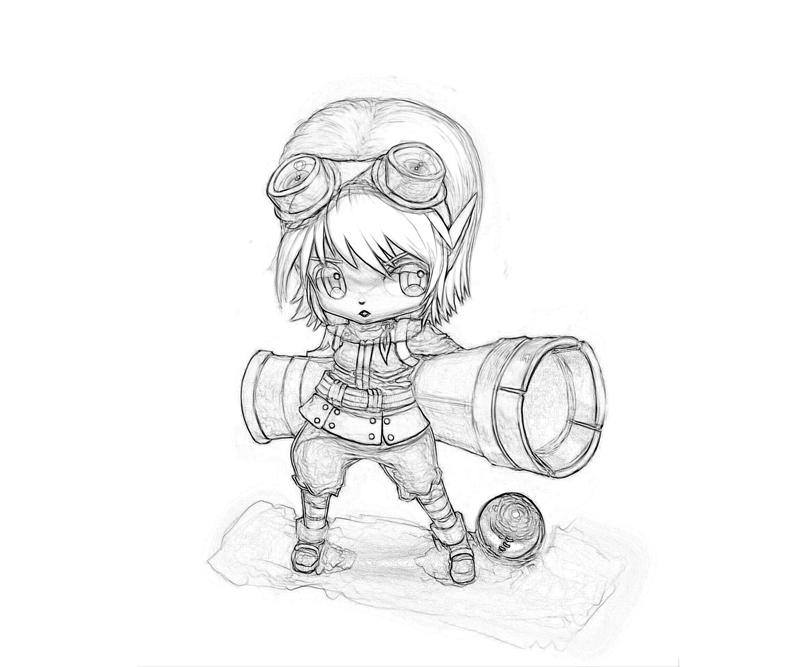 League of legends tristana character temtodasas for League of legends coloring pages