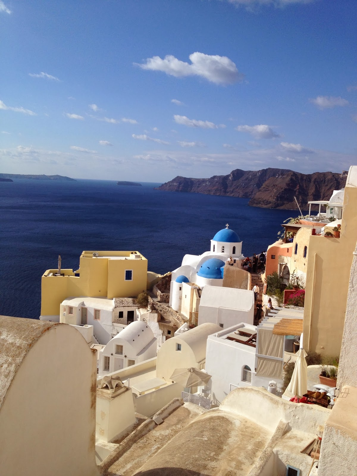 Santorini - The view a few steps away from our cave house