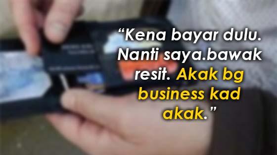 Kerana sekeping business card, wanita ini teraniaya