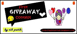 """first giveaway by cik putih"""