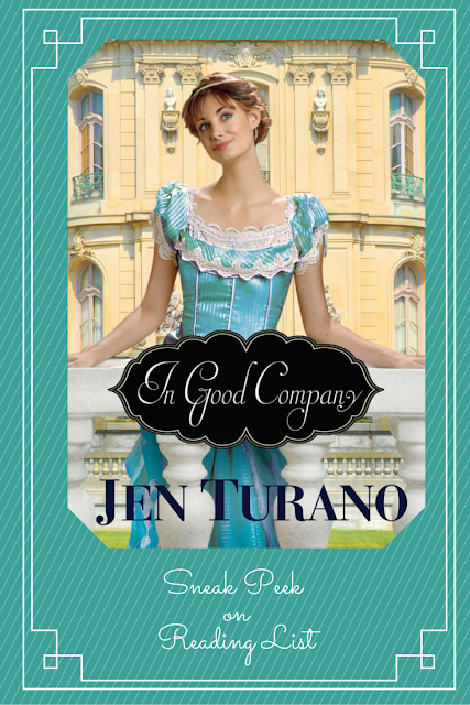 In Good Company by Jen Turano  a Sneak Peek on Reading List  http://bit.ly/1UIswS6