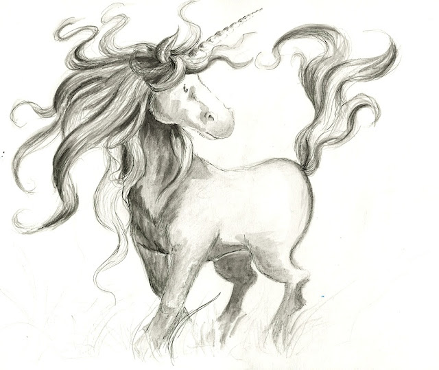 unicorn, Einhorn, Kinderbuchillustration, fantasy