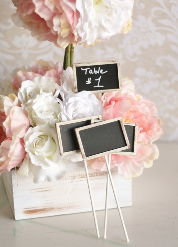 Wedding Decor found HERE Rustic Chalk Tags reusable chalkboard tag