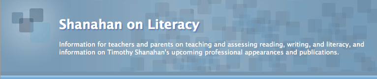 Shanahan On Literacy Blog