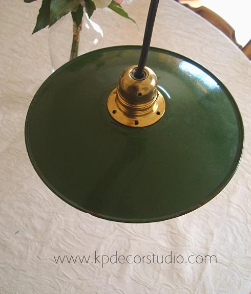 Venta de lámparas de techo antiguas estilo industrial vintage baratas y restauradas listas para colocar