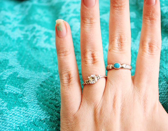 close up with hand and rings