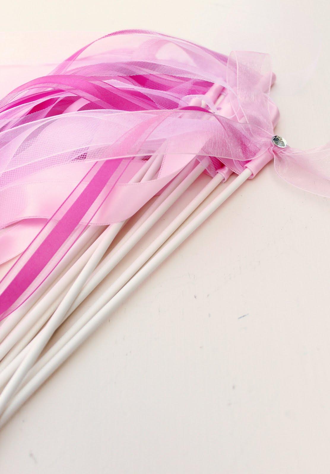 Icing designs princess ribbon wands for Ribbon wands