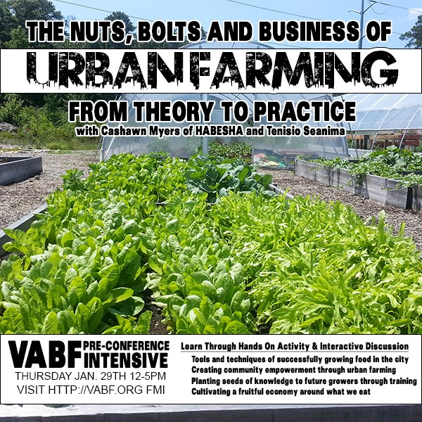 16th Annual Virginia Biological Farming Conference January 30 & 31, 2015