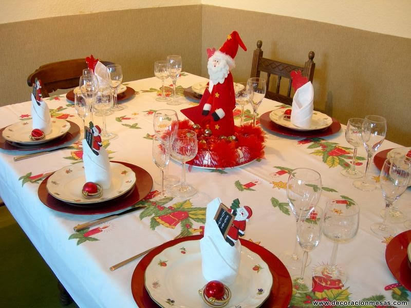 Las delicias de mayte mesas de navidad - Como adornar la mesa en navidad ...
