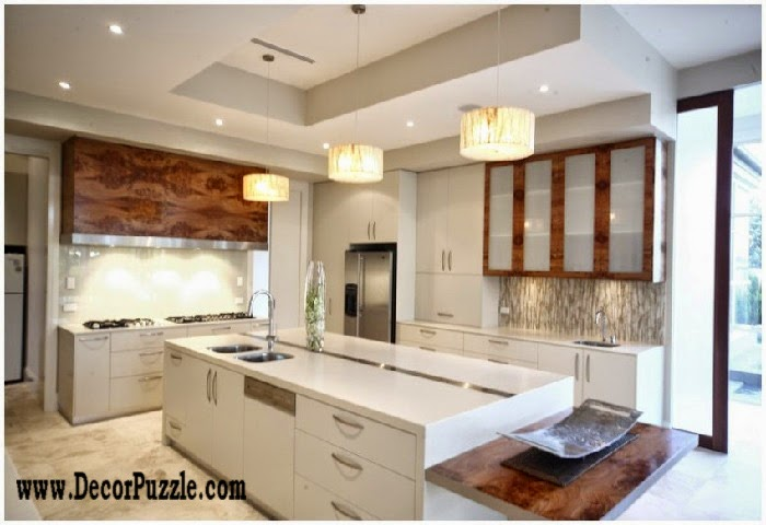 Minimalist kitchen design and cabinets, modern white kitchens 2015