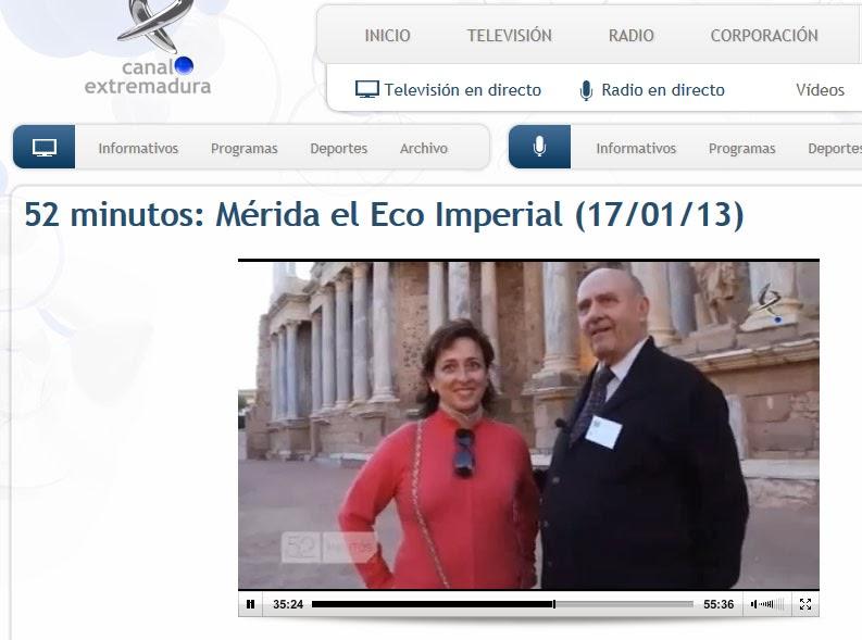 http://www.canalextremadura.es/alacarta/tv/videos/52-minutos-merida-el-eco-imperial-170113