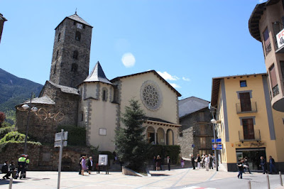 Church of Sant Esteve in the old quarter of Andorra La Vella