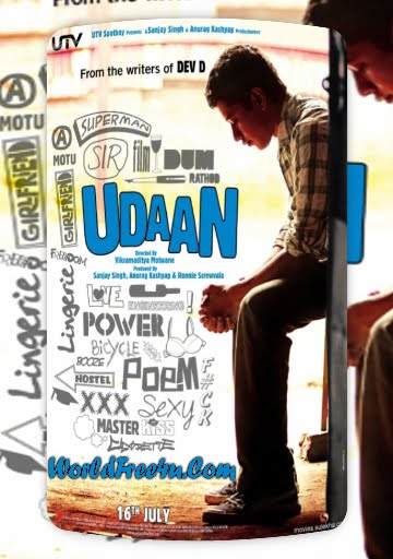 Poster Of Bollywood Movie Udaan (2010) 300MB Compressed Small Size Pc Movie Free Download worldfree4u.com