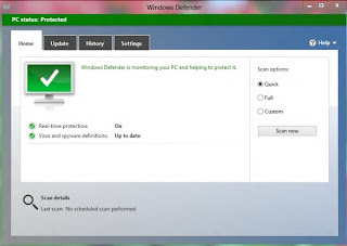 Setting Konfigurasi Windows Defender di Windows 8