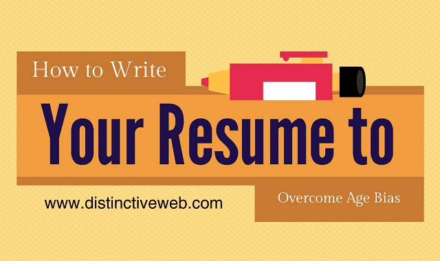 how to write your resume to overcome age bias infographic