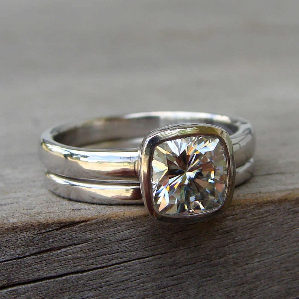 and rose etsy ring diamond eco rings size recycled friendly moissanite engagement pin via alternative gold