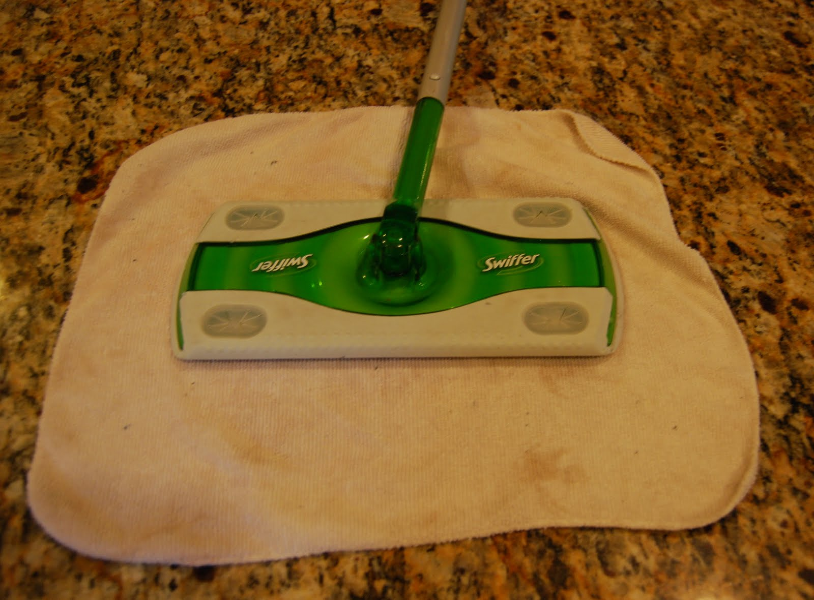 Swiffer Sweeper Mop System, Adjustable Length, Green, 3/Carton