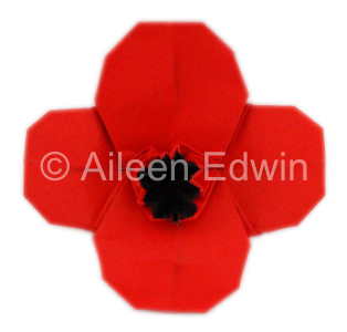 Origami Poppy (dual-coloured version)