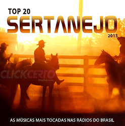 Capa do álbum Top 20 Sertanejo 2013