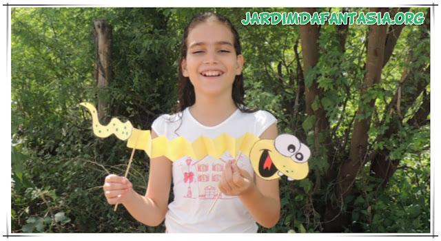 Cobra Estica Encolhe Artesanato para Criança Cantiga Popular