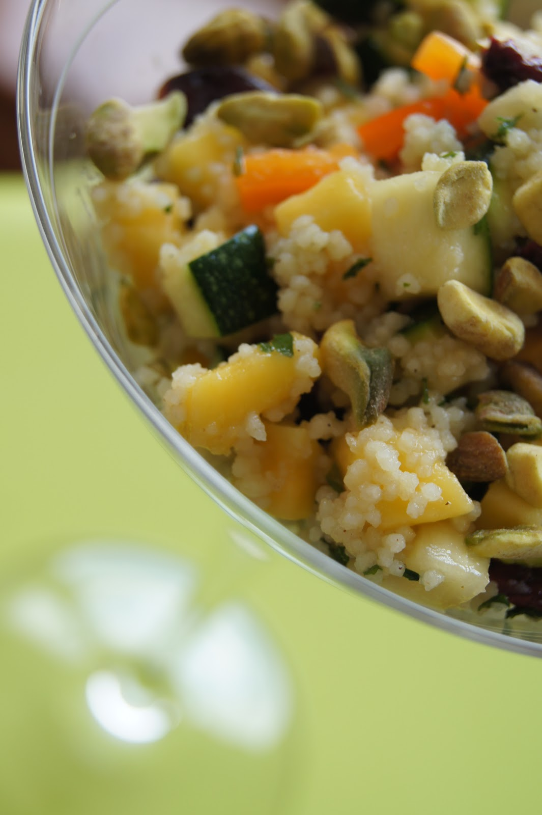 FooDabbler: Sweet Mango Zucchini Couscous with Raw ...
