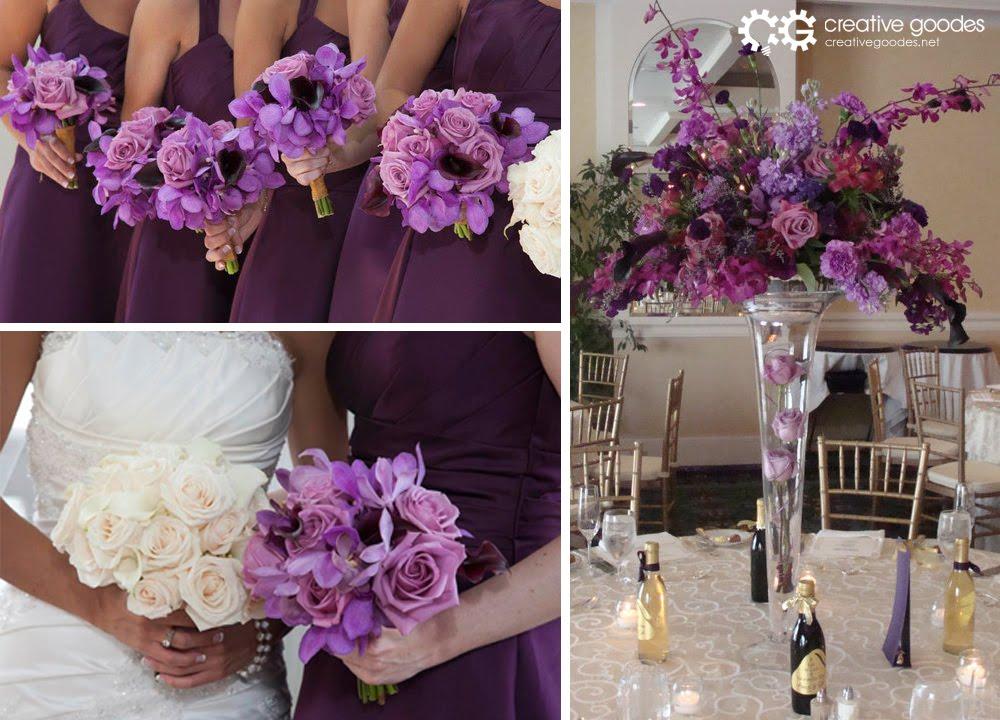 Creative Weddings Dark Purple Orchid Wedding