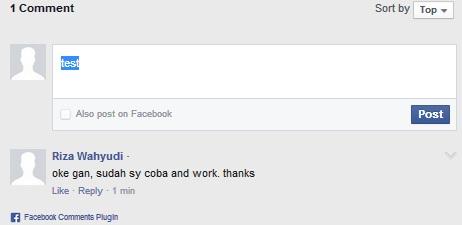 Cara Membuat Kotak Komentar Facebook pada Postingan Blog
