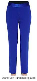 Sydney Fashion Hunter - She Wears The Pants - Diane Von Furstenberg Cobalt Women's Work Pants