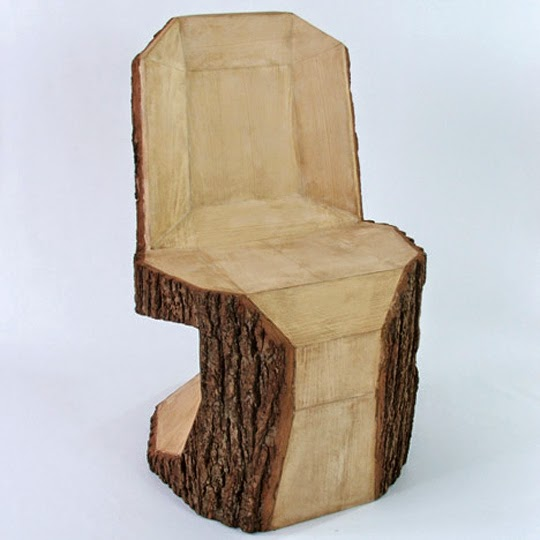 wooden stub chair