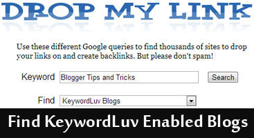 Find KeywordLuv Enabled Blogs