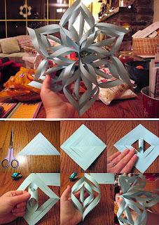 Estrela de papel para o natal