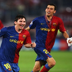 DP BBM Messi dan Busquest