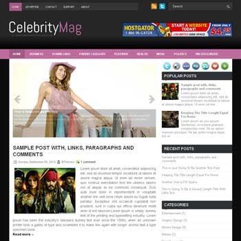 CelebrityMag blog template. patter background blogger template. magazine style template blogspot. free blogspot template. template for celebrity news blog
