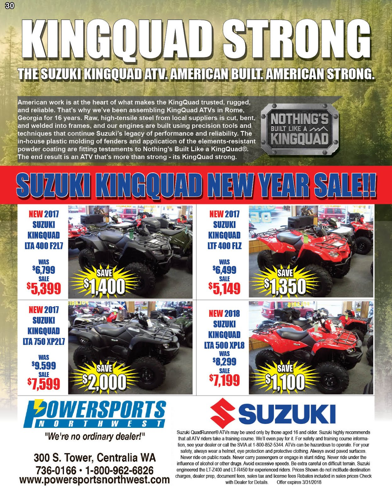 """Powersports Northwest"" is KINGQUAD STRONG!!"