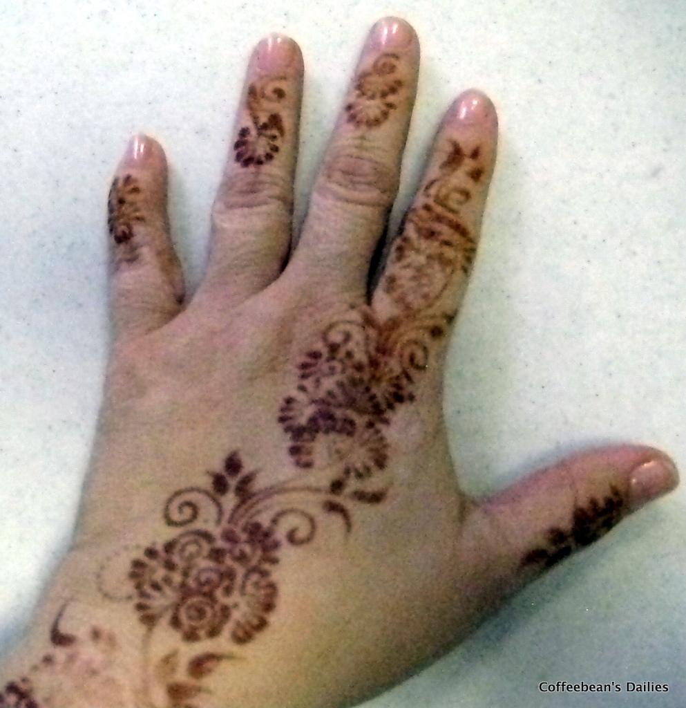 Coffeebean39s Dailies Henna Hands