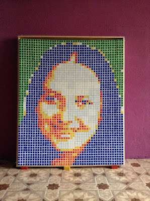 portrait of rubik's cube