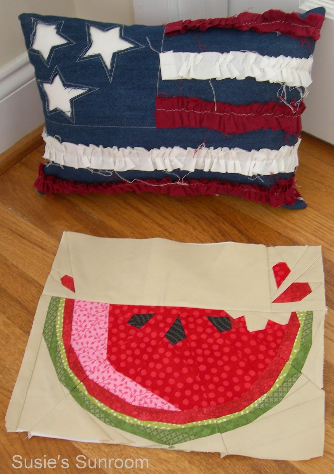 Susie's Sunroom: Watermelon Slice Table Topper : watermelon quilt pattern - Adamdwight.com