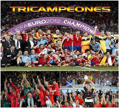 España Tricampeona, la proxima meta el mundial de Brasil 2014