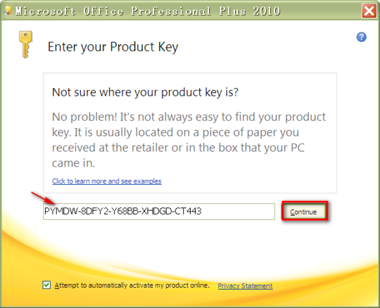 product key microsoft office professional plus 2010 trial