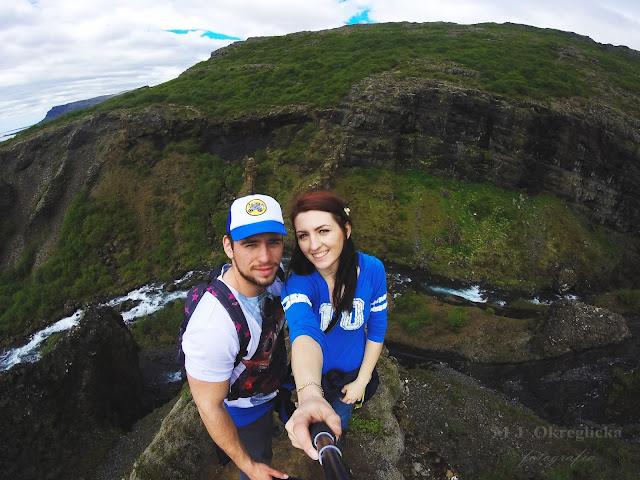 Polish Couple on  Glymur in Iceland, GoPro