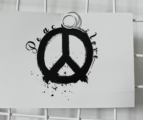 peace, vykort, peacetecken på vykort, svartvitt, svartvita, svarta och vita, vitt, vita, kort, korten,