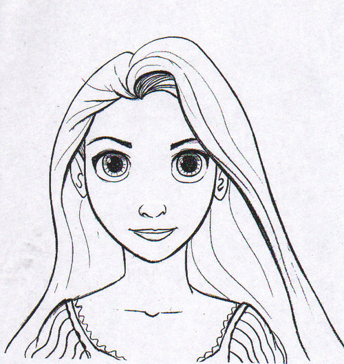 Free Printable Tangled & Rapunzel Coloring Pages title=