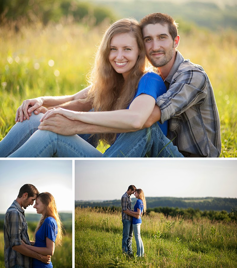 outdoor engagement session New Bethlem, PA Sandra Jackson Photography