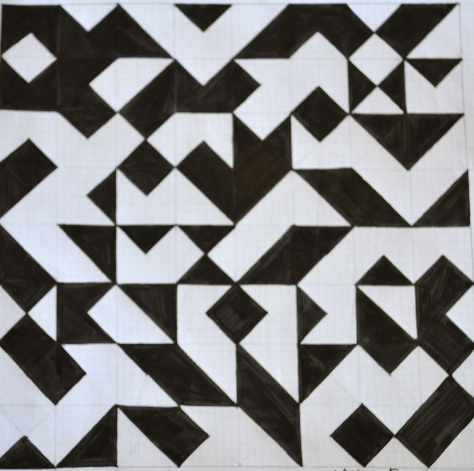 Allie Plepler Parsons Summer 2011 Geometric Pattern