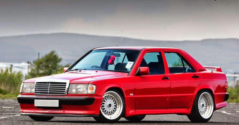 BENZTUNING: Mercedes-Benz 190D W201 RED on BBS Wheels Mercedes Glk