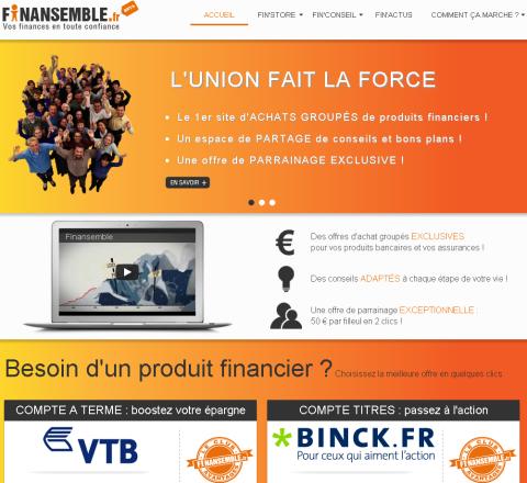 Page d'accueil Finansemble