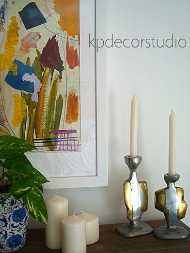 Comprar decoracion vintage, esculturas bronce antiguas, para colocar velas.