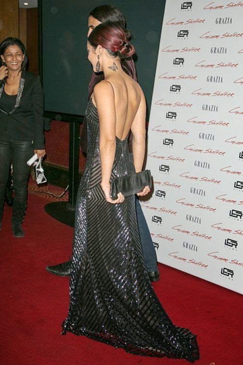 We will never tire of seeing Vanessa Hudgens and she did not forget to bring the intensity. Dazzling her comfort zone in a dark long gown, the 25-year-old stepped out to the red carpet of Gimme Shelter premiere at Le Grand Rex, France on Sunday, October 25, 2014.