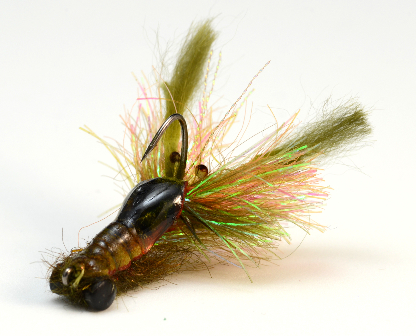 Tying on jig style hooks fly fish food fly tying and for Fly fish food