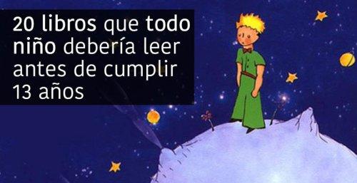 20 LIBROS QUE TODO NIÑO DEBERÍA LEER